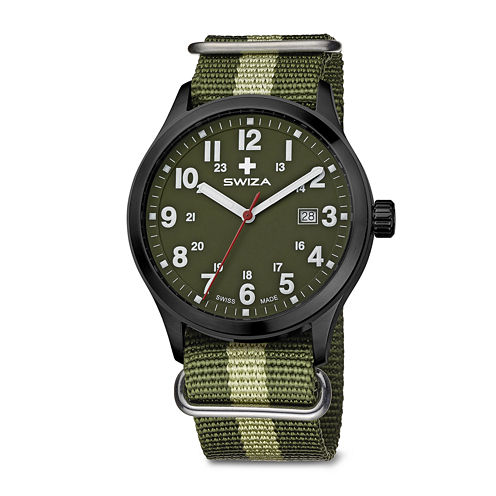 SWIZA Mens Green Strap Watch