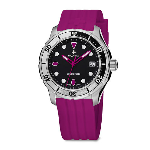 SWIZA Tetis Womens Pink Strap Watch