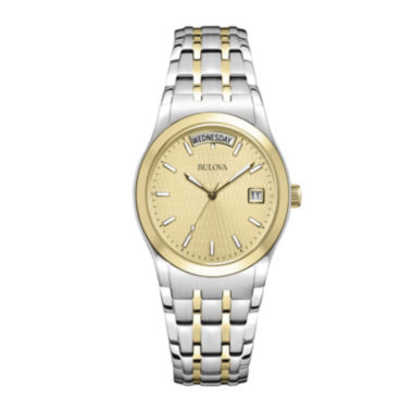 jcpenney.com | Bulova® Mens Two-Tone Bracelet Watch 98C60