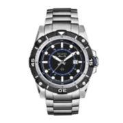 Bulova® Marine Star Mens Silver-Tone Watch 98B177