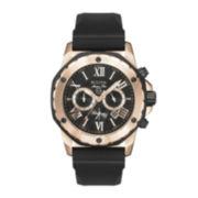 Bulova® Mens Black & Rose Gold-Tone Chronograph Sport Watch 98B104