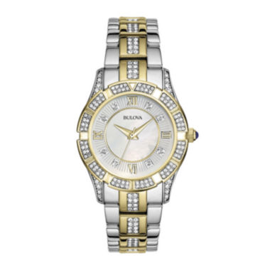 jcpenney.com | Bulova® Womens Crystal 2-Tone Watch 98L135