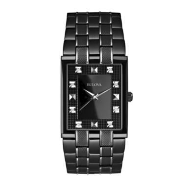 jcpenney.com | Bulova® Mens Black Watch w/ Diamond Accents