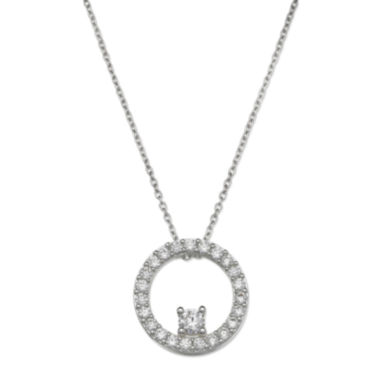 jcpenney.com | Sparkle Allure™ Cubic Zirconia Circle Pendant Necklace