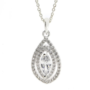 jcpenney.com | Sparkle Allure™ Cubic Zirconia Silver-Plated Pendant Necklace