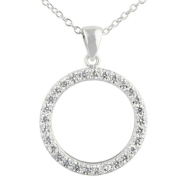jcpenney.com | Silver Enchantment™ Cubic Zirconia Sterling Silver Circle Pendant Necklace