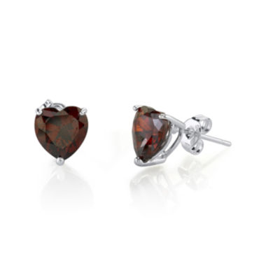 jcpenney.com | Heart-Shaped Red Cubic Zirconia Sterling Silver Stud Earrings