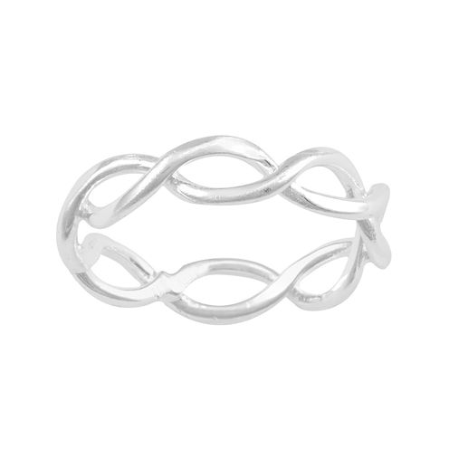 Silver-Plated Infinity Band Ring