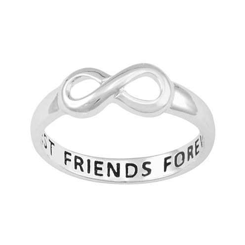 Silver-Plated Infinity Best Friends Forever Ring