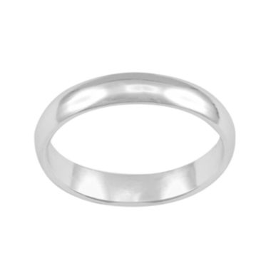 jcpenney.com | Womens 3mm Silver-Plated Band Ring