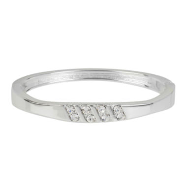 jcpenney.com | Dazzling Designs™ Crystal Silver-Plated Bangle Bracelet