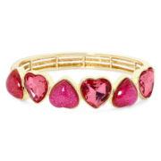Liz Claiborne® Pink Heart Stretch Bracelet