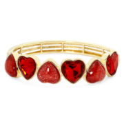 Liz Claiborne® Red Heart Stretch Bracelet