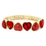 Liz Claiborne® Red Heart Stretch Bracelet