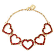 Monet® Red Crystal Heart Flex Bracelet