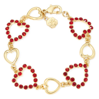 jcpenney.com | Monet® Red Heart Crystal Bracelet