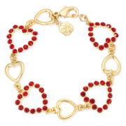 Monet® Red Heart Crystal Bracelet