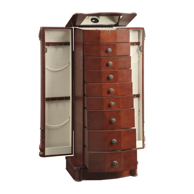 Rayford Jewelry Armoire, Color: Cherry - JCPenney
