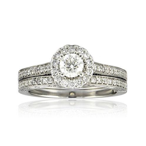 LIMITED QUANTITIES 1-1/0 CT. T.W. Diamond Bridal Ring Set