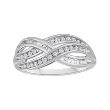jcpenney.com | 1/3 CT. T.W. Diamond 10K White Gold Crossover Ring