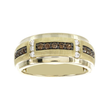 jcpenney.com | Mens 1/2 CT. T.W. White and Color-Enhanced Brown Diamond Ring