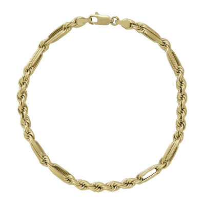 hollow chain a diamond gold polished curb solid baht yellow bracelet in cut