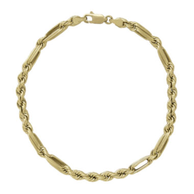 "jcpenney.com | 14K Yellow Gold 8"" Milano Hollow Chain Bracelet"