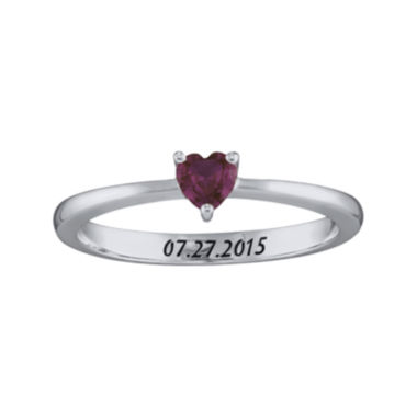 jcpenney.com | Personalized Girls Heart Birthstone Ring