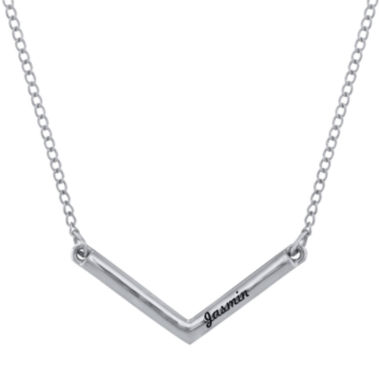 jcpenney.com | Personalized V-Shaped Engraved Necklace