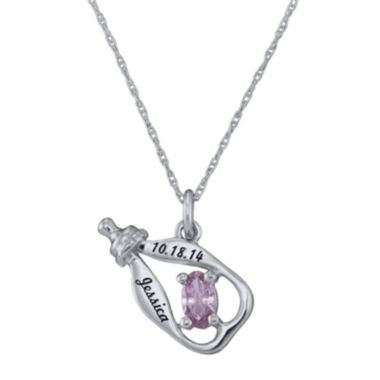 jcpenney.com | Personalized Girls Birthstone Bottle Pendant Necklace