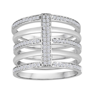 13 CT TW Diamond Sterling Silver Multi Band Ring JCPenney