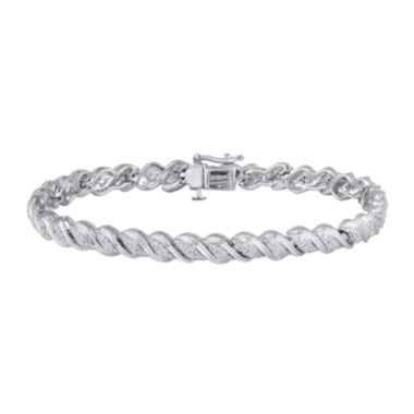 jcpenney.com | 1/4 CT. T.W. Diamond Sterling Silver Bracelet