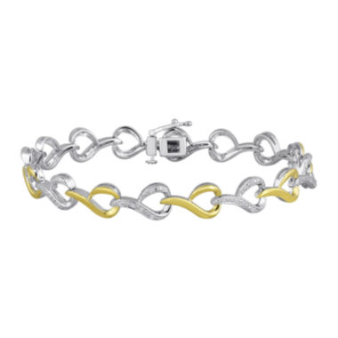 jcpenney.com | 1/10 CT. T.W. Diamond 14K Yellow Gold Over Sterling Silver Link Bracelet