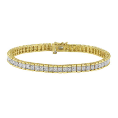 jcpenney.com | 1/4 CT. T.W. Diamond 14K Yellow Gold Over Sterling Silver Bracelet