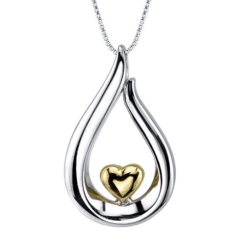 Inspired Moments™ Sterling Silver Daughter Heart Pendant Necklace