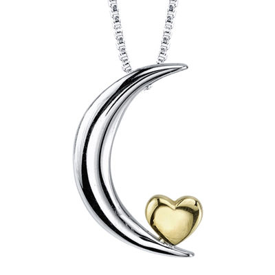 inspired moments� sterling silver love you to the moon