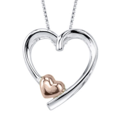 jcpenney.com | Inspired Moments™ Sterling Silver Mother Heart Pendant Necklace