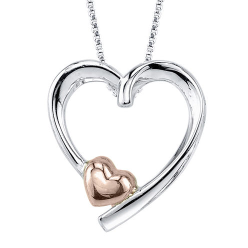 Inspired Moments™ Sterling Silver Mother Heart Pendant Necklace