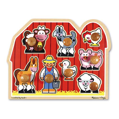 Melissa & Doug® Large Farm Jumbo Knob Puzzle