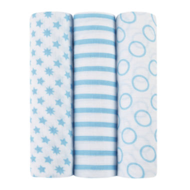 jcpenney.com | ideal baby by the makers of aden + anais® 3-pk. Swaddles - Sunny Side