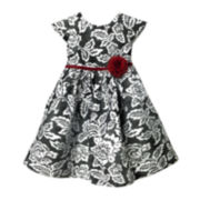 Marmellata Floral Shantung Dress - Toddler Girls 2t-4t
