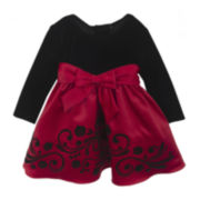 Rare Editions Red Satin Dress - Toddler Girls 2t-4t