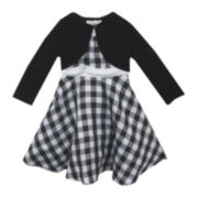 Rare Editions Plaid Dress and Cardigan - Toddler Girls 2t-4t