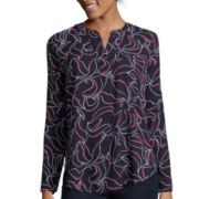 Liz Claiborne® Long-Sleeve V-Neck Tunic