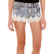 Almost Famous Princess Denim Shorts  - Juniors