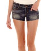 Arizona Raw-Hem Denim Shorts