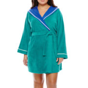 Sleep Chic Hooded Fleece Robe