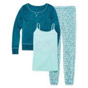 Flirtitude® Long-Sleeve 3-Piece Pajama Set