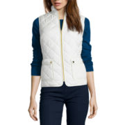 St. John's Bay® Sleeveless Mini Quilted Vest - Tall