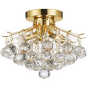 4-Light Flush-Mount Crystal Chandelier